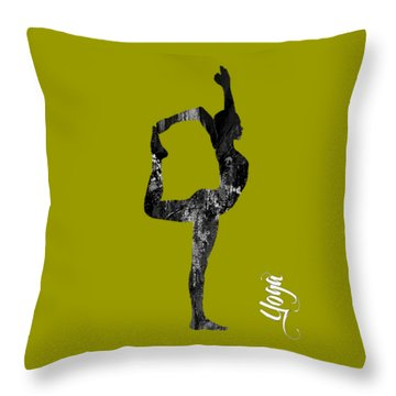 Yoga Collection Throw Pillow by Marvin Blaine