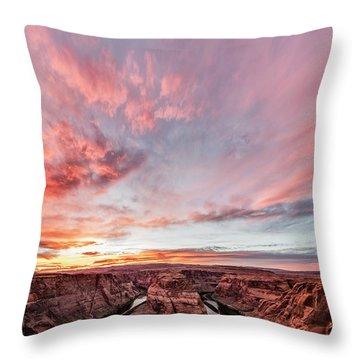 180 Degrees Of Sunset Throw Pillow