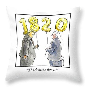 1820 Throw Pillow