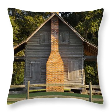 1844 Log Cabin Throw Pillow