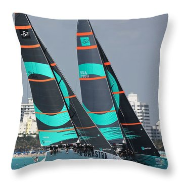 Miami Regatta Throw Pillow