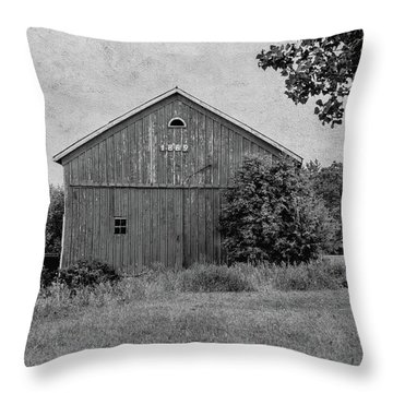 Throw Pillow featuring the photograph 1869 Black And White by Kim Hojnacki