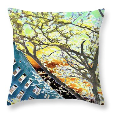 187 Street Re-imagined Throw Pillow by Sarah Loft