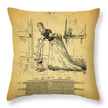 1874 Baby Exercising Corset Throw Pillow by Dan Sproul