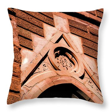 Throw Pillow featuring the photograph 1875 Church by Onyonet  Photo Studios
