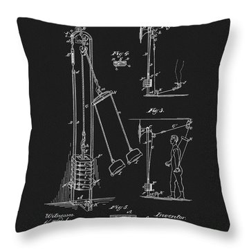 1885 Exercise Apparatus Throw Pillow by Dan Sproul
