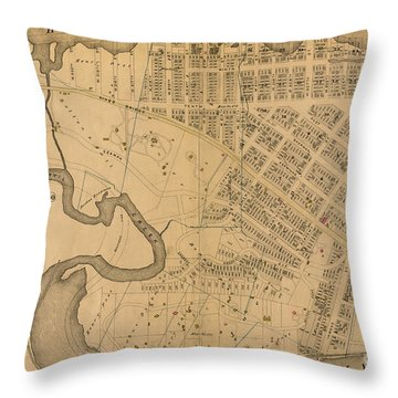 Throw Pillow featuring the photograph 1885 Inwood Map  by Cole Thompson