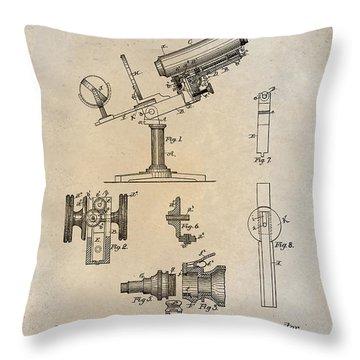 1886 Microscope Patent Art Fasoldt 1 Throw Pillow