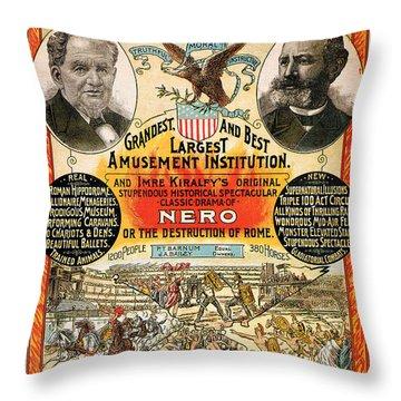 1890 - Circus Poster Throw Pillow