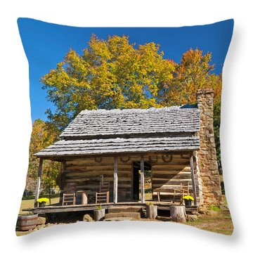 1890's Farm Cabin Throw Pillow