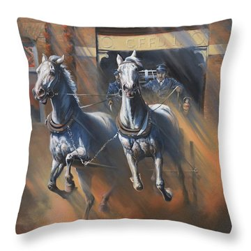 1890's First Responders Throw Pillow by Mia DeLode