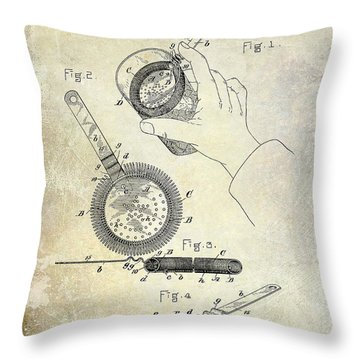 1892 Cocktail Mixer Throw Pillow