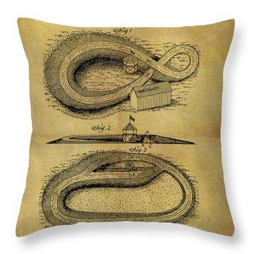 1892 Horse Race Course Throw Pillow