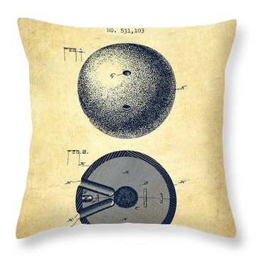 Bowling Ball Throw Pillows