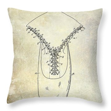 1896 Shoe Patent  Throw Pillow by Jon Neidert