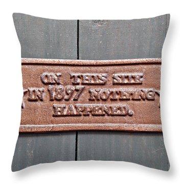 1897 Throw Pillow