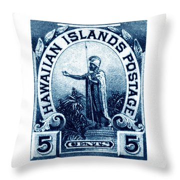 1899 Statue Of Kamehameha Stamp Throw Pillow