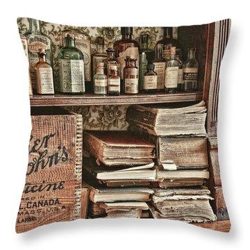 18th Century Pharmacy Throw Pillow