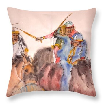Il Palio Contrada  Lupa Album Throw Pillow by Debbi Saccomanno Chan