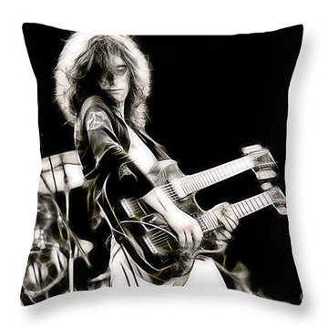 Jimmy Page Collection Throw Pillow by Marvin Blaine