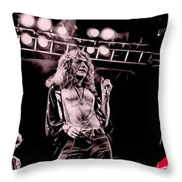 Led Zeppelin Collection Throw Pillow