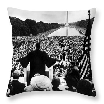 Martin Luther King Jr Throw Pillow by American School