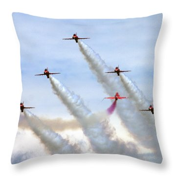 Red Arrows Throw Pillow by Angel  Tarantella