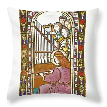 Saint Anne's Windows Throw Pillow