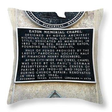 1900 Storm Galveston Throw Pillow