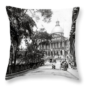 1900 Summer In Boston Massachusetts Throw Pillow