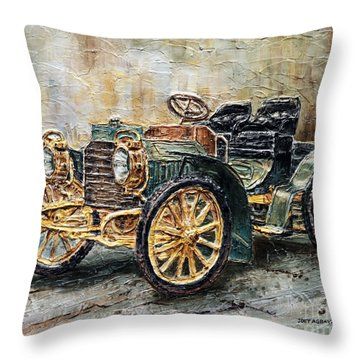 1901 Mercedes Benz Throw Pillow