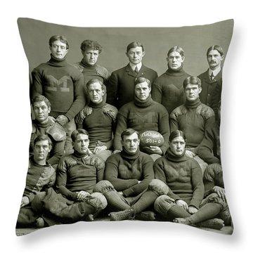 1901 Michigan Wolverines Football Team Throw Pillow