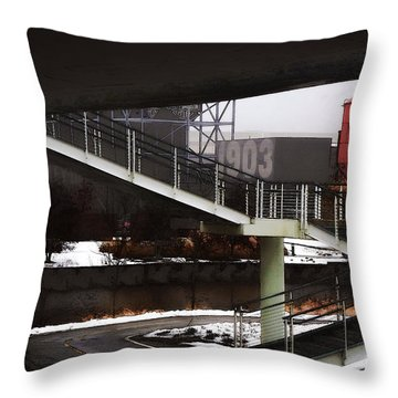 Throw Pillow featuring the digital art 1903 by David Blank