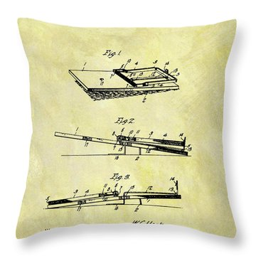 Throw Pillow featuring the mixed media 1903 Mouse Trap Patent by Dan Sproul