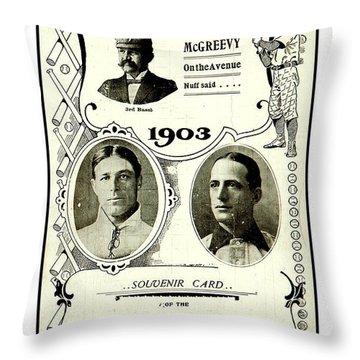 1903 World Series Poster Throw Pillow