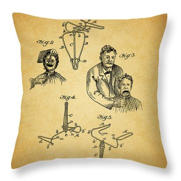 1904 Dental Forceps Patent Throw Pillow by Dan Sproul