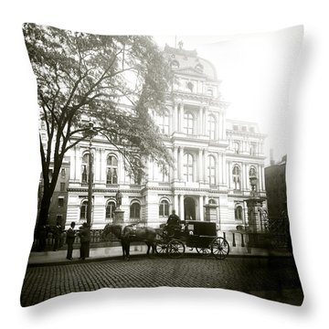 1905 Boston City Hall Throw Pillow