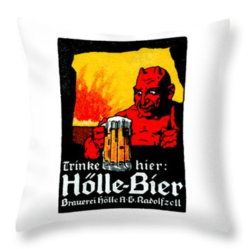 1905 German Beer Poster Throw Pillow