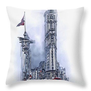 1908 Times Square,ny Throw Pillow