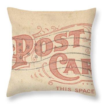 1909 Postcard Throw Pillow