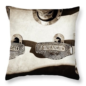 1911 Pope Hartford Model W Control Pedals -135s Throw Pillow