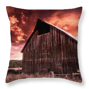 1912 Historic Barn Throw Pillow
