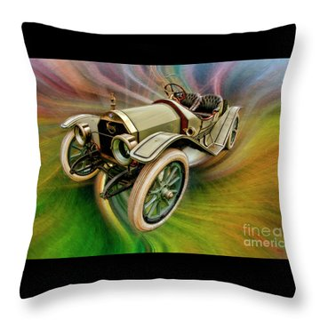 1912 Moon 30 Raceabout Throw Pillow