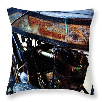 1914 Harley-davidson Motorcycle Throw Pillow