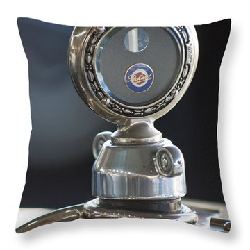 1916 Packard Hood Ornament  Throw Pillow by Jill Reger