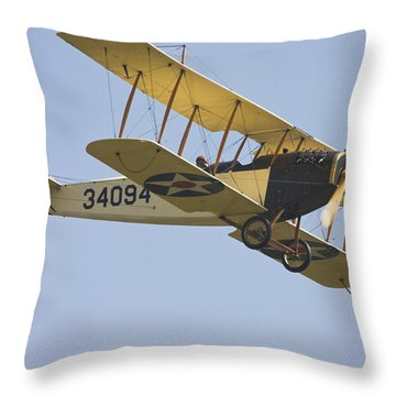 1917 Curtiss Jn-4d Jenny Flying Canvas Photo Poster Print Throw Pillow