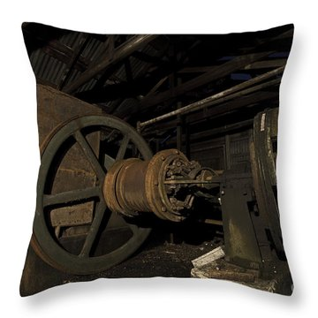 1920 Superior Oilfield Engine Pump House II Throw Pillow