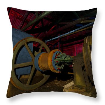 1920 Superior Oilfield Engine Pump House Throw Pillow