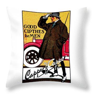 1920's Vintage Men's Clothing Throw Pillow