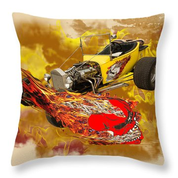 1923 Ford T-bucket Vintage Classic Car Photograph 5693.02 Throw Pillow